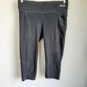 2/$15 Fila Sport Gray Athletic Capri Leggings - L